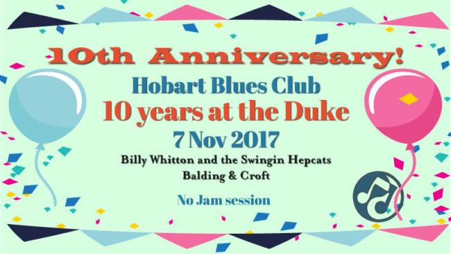Hobart Blues Club 10th anniversary